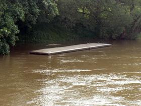 Hochwasser Mai 2013, Sicht von Schnellwegbrücke