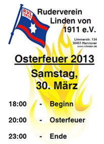 Osterfeuer 2013 Flyer